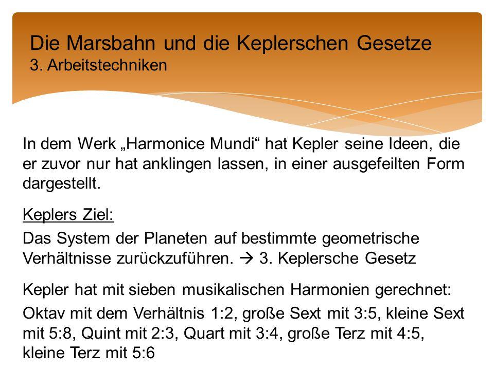 """In dem Werk """"Harmonice Mundi hat Kepler seine Ideen, die er zuvor nur hat anklingen lassen, in einer ausgefeilten Form dargestellt."""