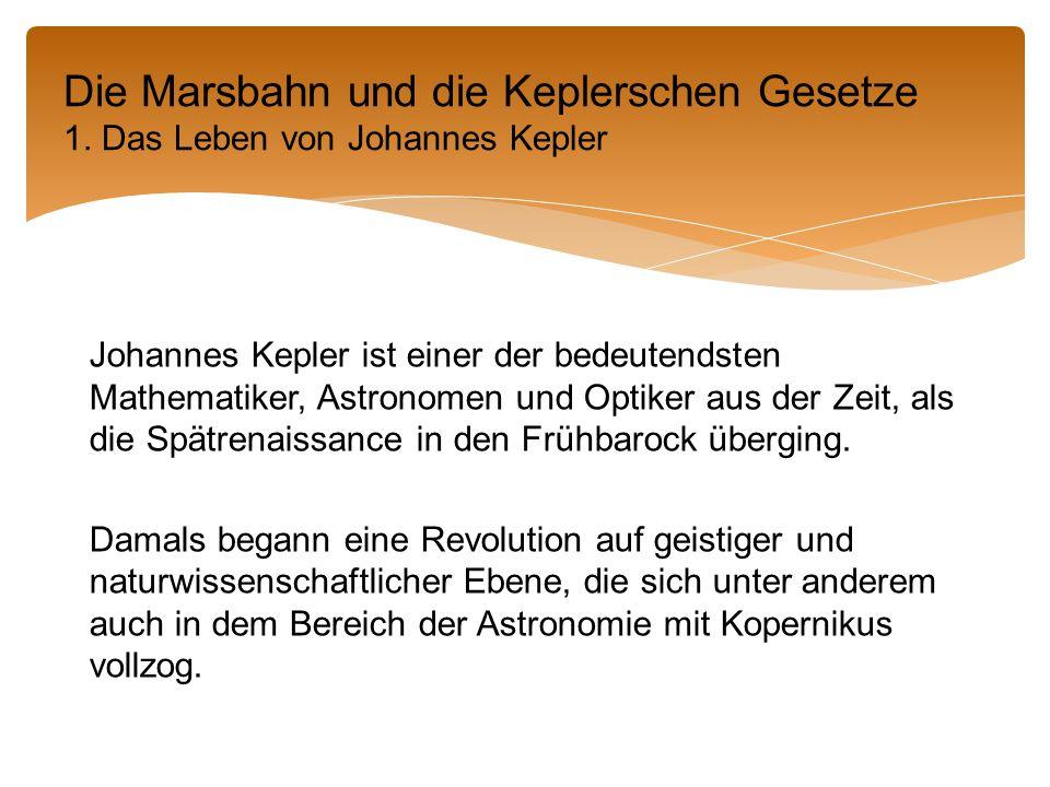 Johannes Kepler ist einer der bedeutendsten Mathematiker, Astronomen und Optiker aus der Zeit, als die Spätrenaissance in den Frühbarock überging.
