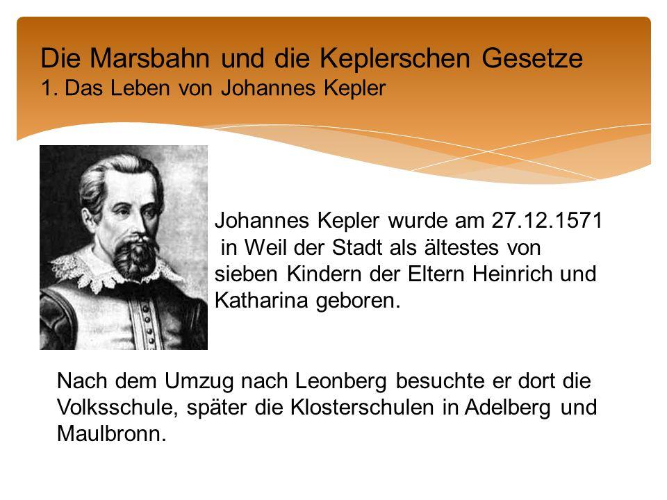 Johannes Kepler wurde am 27.12.1571 in Weil der Stadt als ältestes von sieben Kindern der Eltern Heinrich und Katharina geboren.