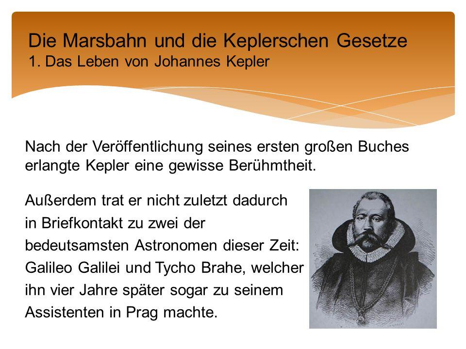 Nach der Veröffentlichung seines ersten großen Buches erlangte Kepler eine gewisse Berühmtheit.