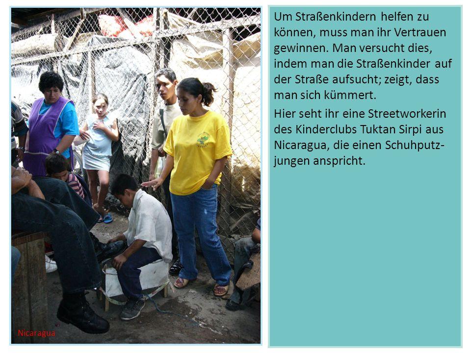 Um Straßenkindern helfen zu können, muss man ihr Vertrauen gewinnen.