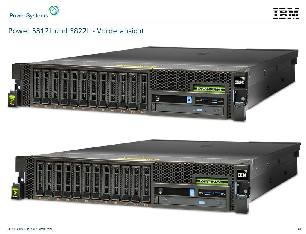 © 2014 IBM Deutschland GmbH41 Power S812L und S822L - Vorderansicht