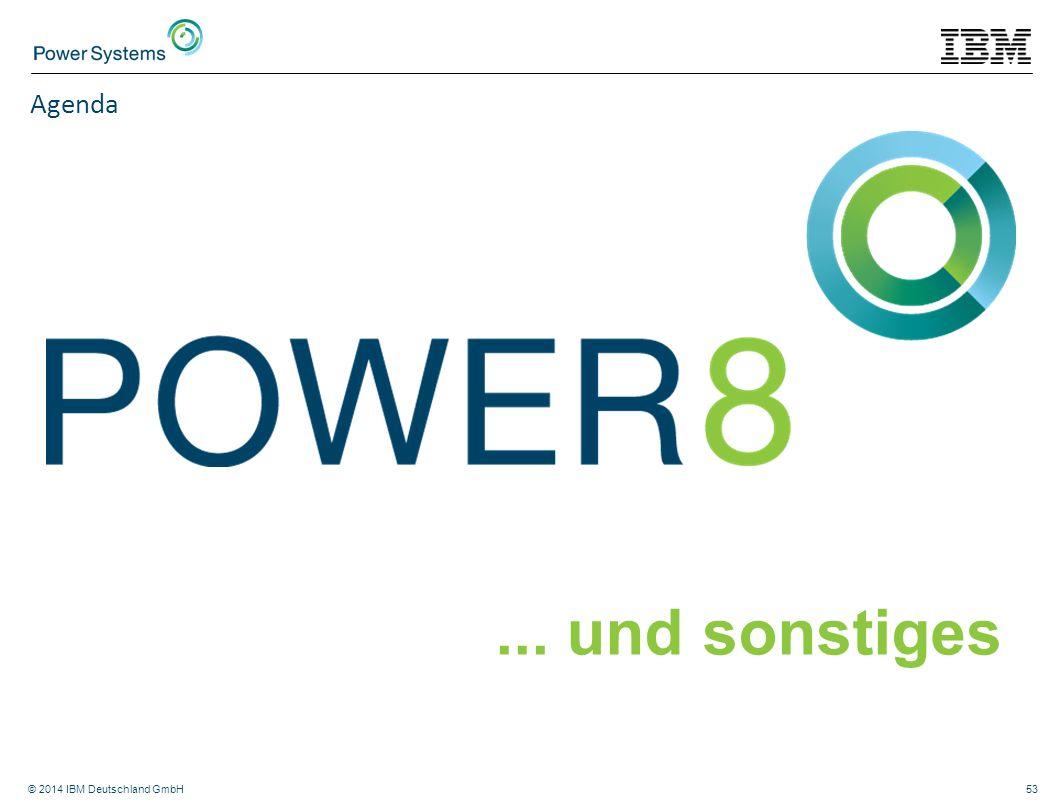 © 2014 IBM Deutschland GmbH53 Agenda... und sonstiges