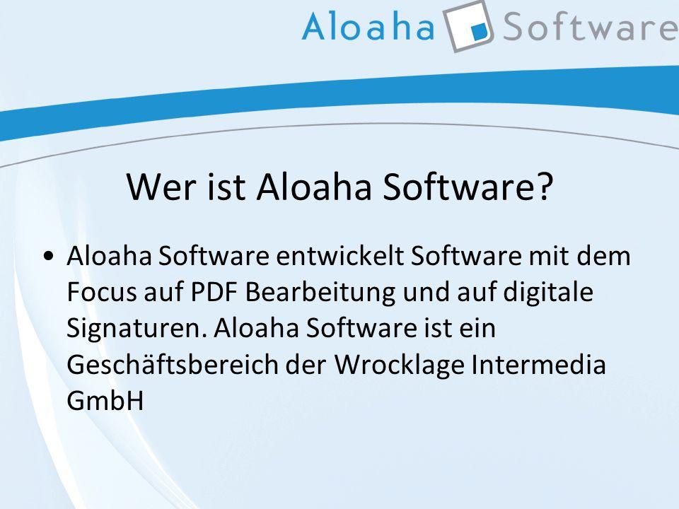 Wer ist Aloaha Software.