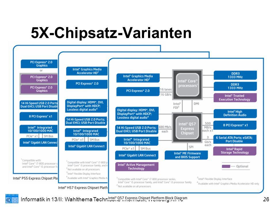 Informatik in 13/II: Wahlthema Technische Informatik; Weilburg XI/1026 5X-Chipsatz-Varianten