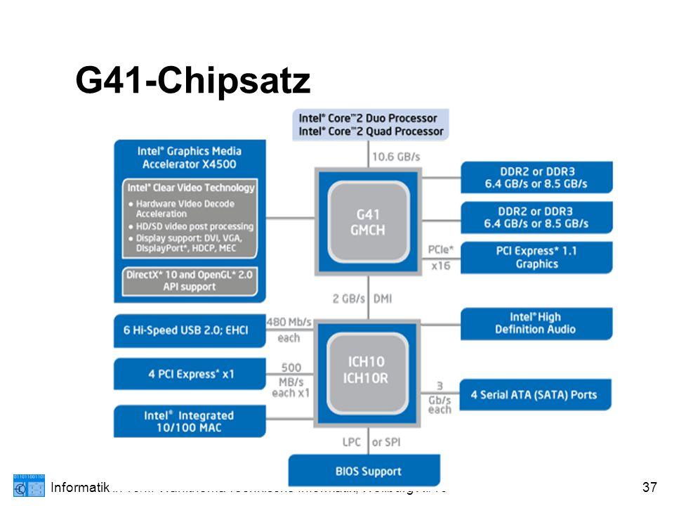 Informatik in 13/II: Wahlthema Technische Informatik; Weilburg XI/1037 G41-Chipsatz