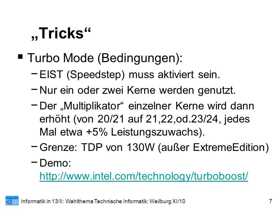 "Informatik in 13/II: Wahlthema Technische Informatik; Weilburg XI/1028 Die ""Clarkdale -Familie"