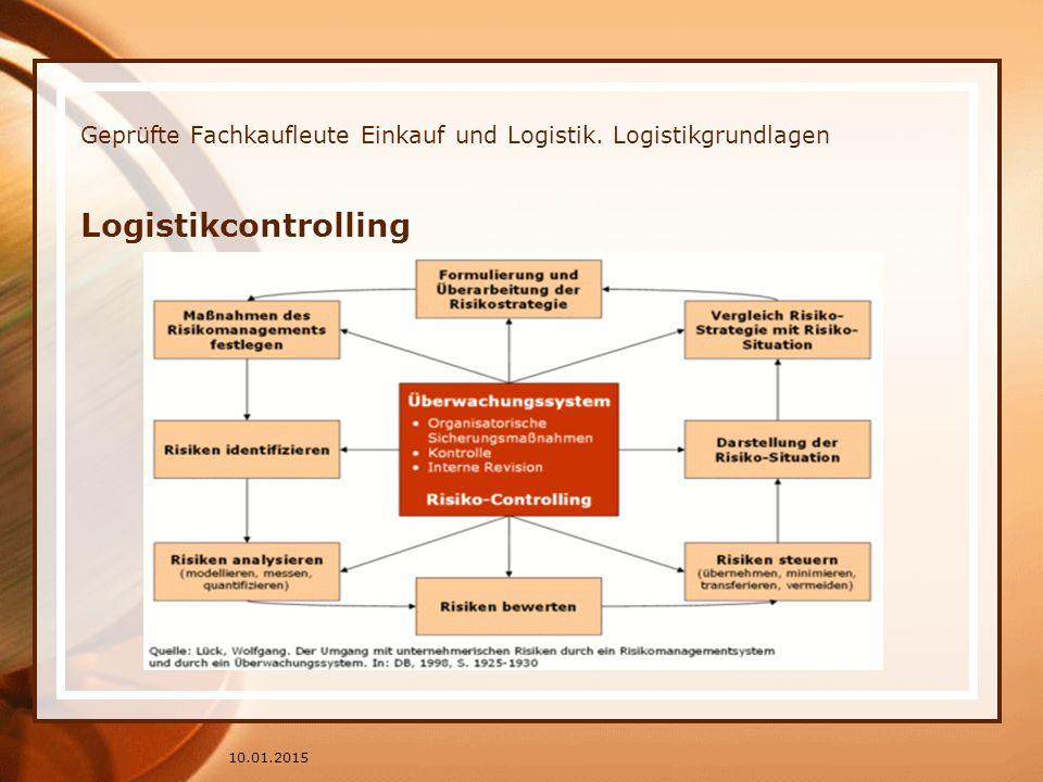 Geprüfte Fachkaufleute Einkauf und Logistik. Logistikgrundlagen Logistikcontrolling 10.01.2015