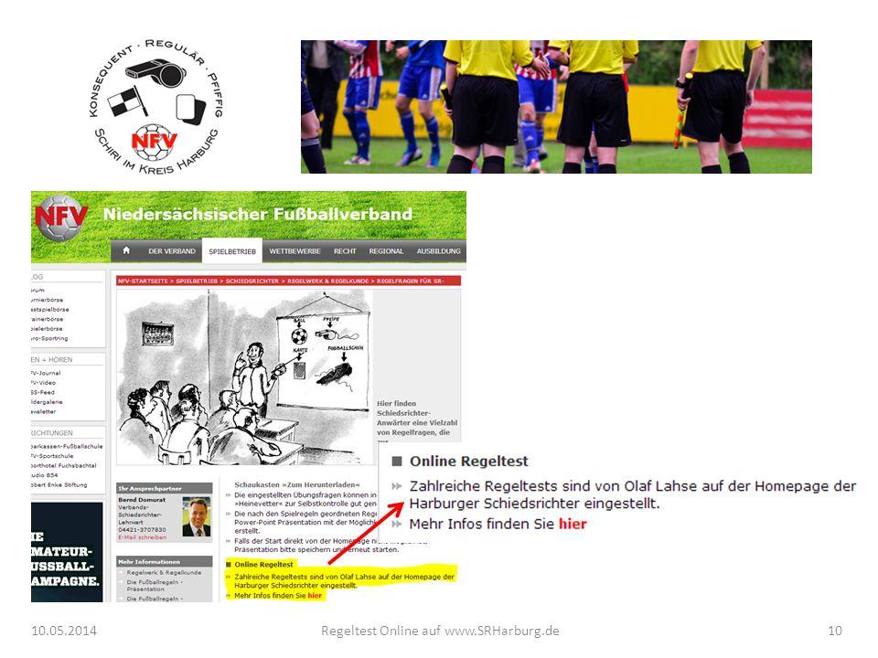 10.05.2014Regeltest Online auf www.SRHarburg.de10