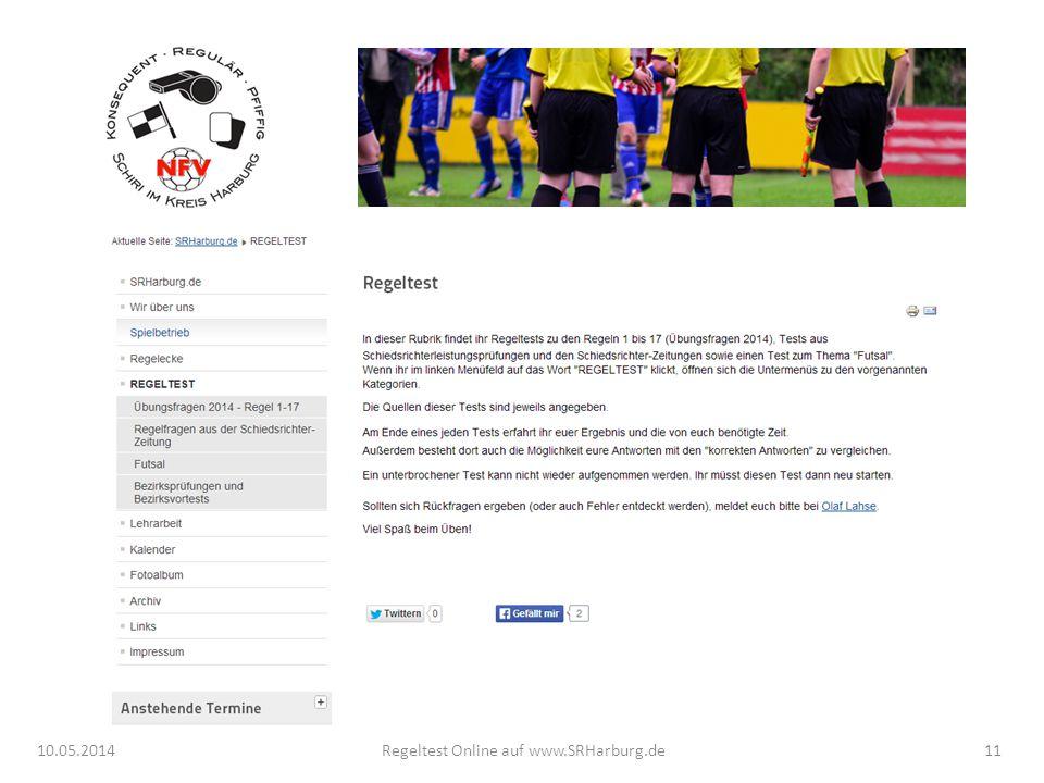 10.05.2014Regeltest Online auf www.SRHarburg.de11