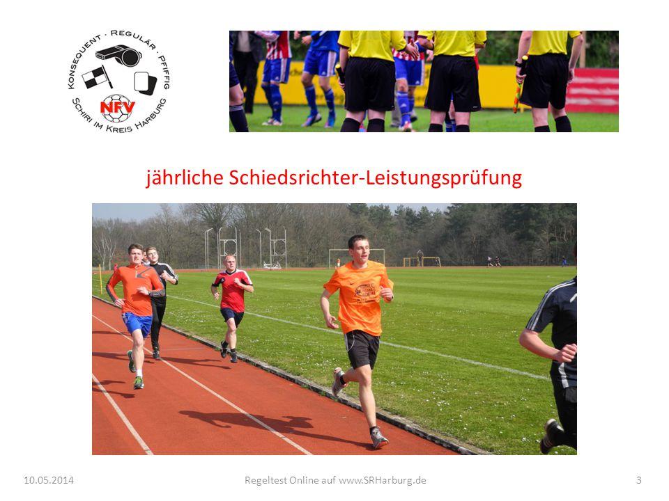 10.05.2014Regeltest Online auf www.SRHarburg.de jährliche Schiedsrichter-Leistungsprüfung 4