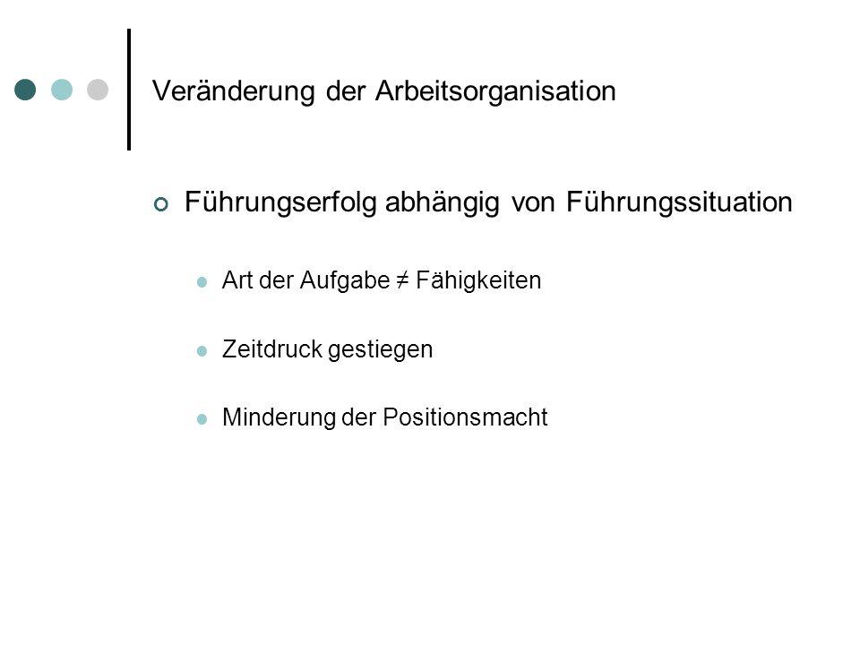Wechsel des Führungsstils Alter Produktionsprozess Neuer Produktionsprozess - Handwerkliche Orientierung (Z.