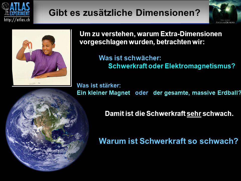 Vortragender – Mai 2009 34 Gibt es zusätzliche Dimensionen? Um zu verstehen, warum Extra-Dimensionen vorgeschlagen wurden, betrachten wir: Was ist sch