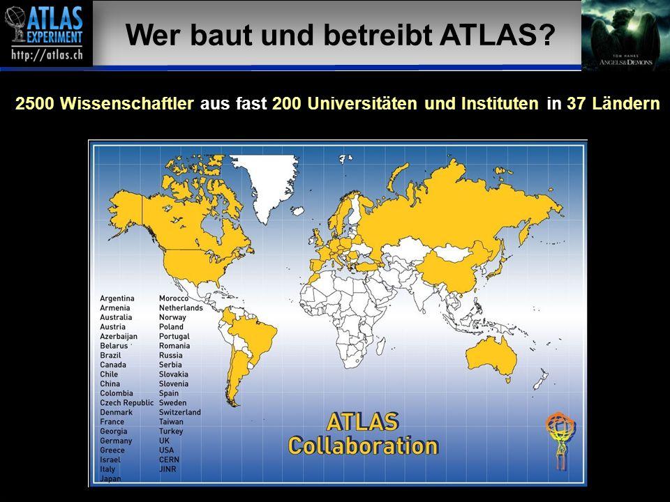 Vortragender – Mai 2009 39 19 Wer baut und betreibt ATLAS? 2500 Wissenschaftler aus fast 200 Universitäten und Instituten in 37 Ländern