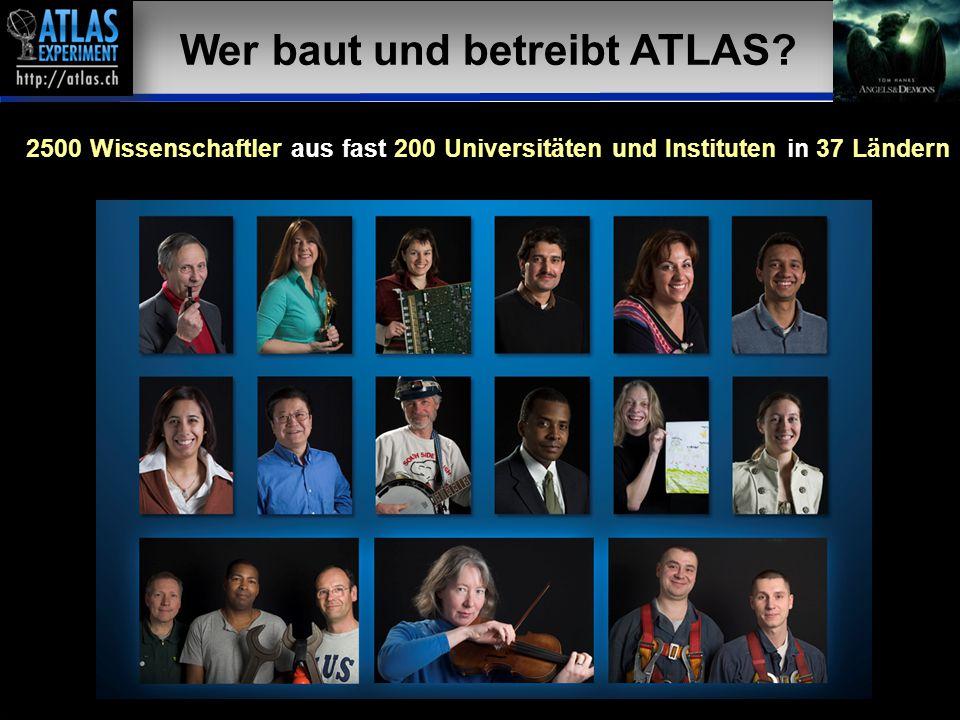 Vortragender – Mai 2009 40 19 Wer baut und betreibt ATLAS? 2500 Wissenschaftler aus fast 200 Universitäten und Instituten in 37 Ländern