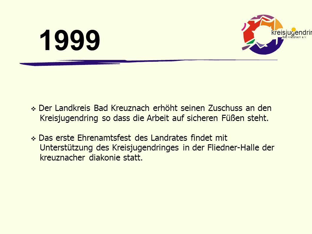 kreisjugendring Bad Kreuznach e.V.  Der Landkreis Bad Kreuznach erhöht seinen Zuschuss an den Kreisjugendring so dass die Arbeit auf sicheren Füßen s