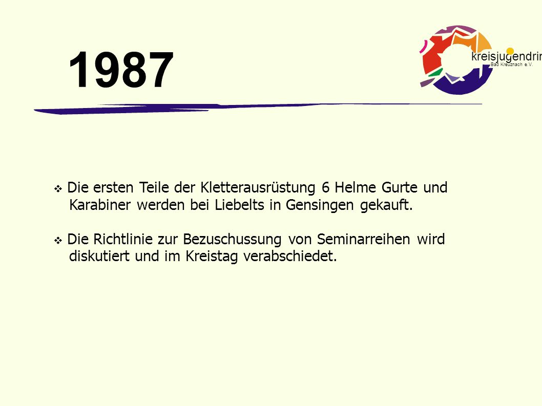 kreisjugendring Bad Kreuznach e.V. 1995 aller guten Dinge sind drei