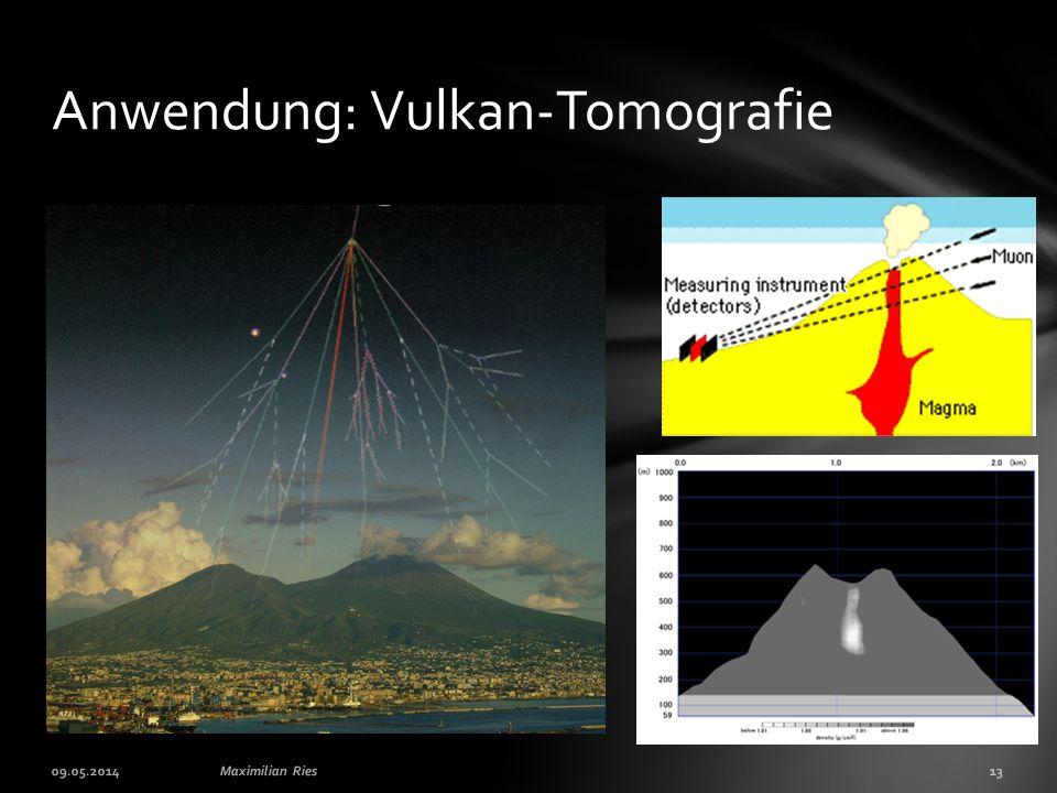 09.05.201413Maximilian Ries Anwendung: Vulkan-Tomografie