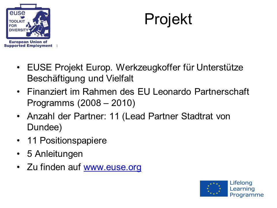 Projekt EUSE Projekt Europ.