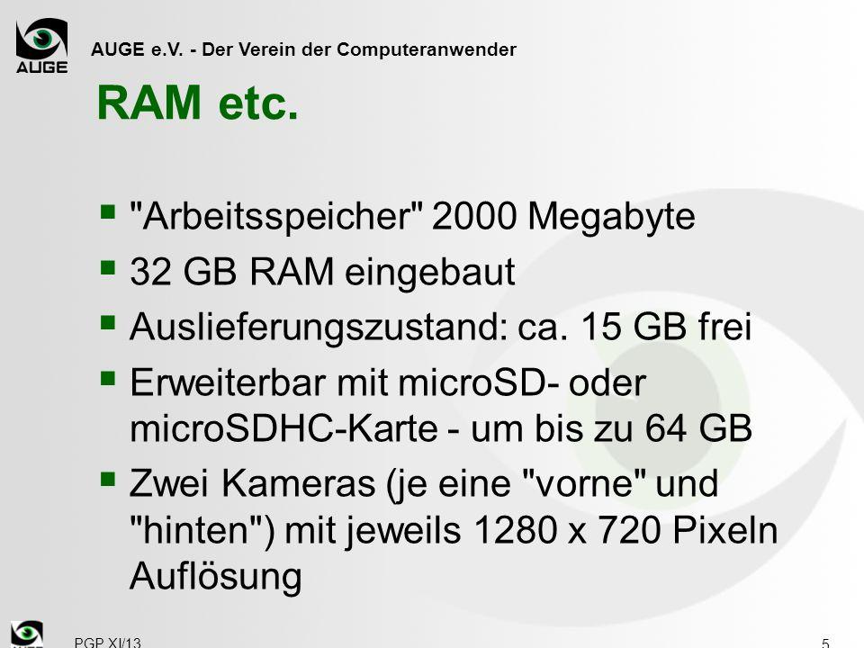 AUGE e.V. - Der Verein der Computeranwender RAM etc. 
