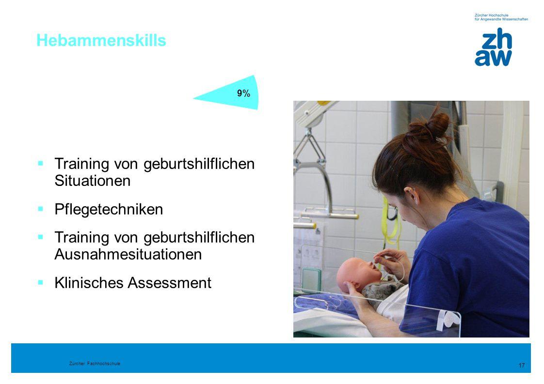 Zürcher Fachhochschule Hebammenskills 17  Training von geburtshilflichen Situationen  Pflegetechniken  Training von geburtshilflichen Ausnahmesitua