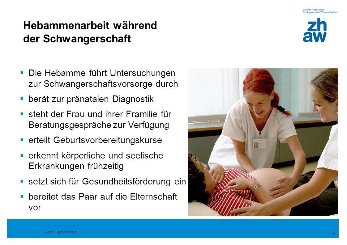 Zürcher Fachhochschule 16 Hebammenlehre  Frauengesundheit  geburtshilfliche Situationen  Regelrichtigkeit, Regelabweichung und Regelwidrigkeit  komplexe geburtshilfliche Situationen 17%