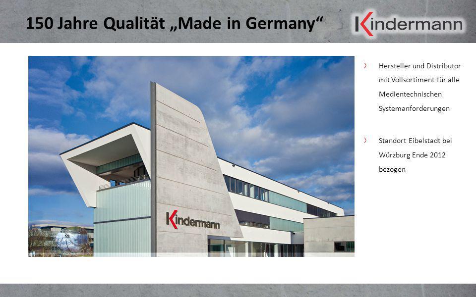 """150 Jahre Qualität """"Made in Germany"""" Hersteller und Distributor mit Vollsortiment für alle Medientechnischen Systemanforderungen Standort Eibelstadt b"""