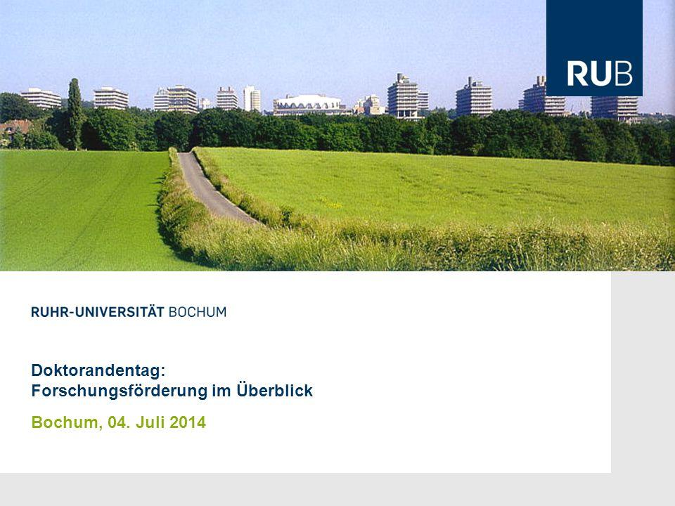 Doktorandentag: Forschungsförderung im Überblick Bochum, 04. Juli 2014