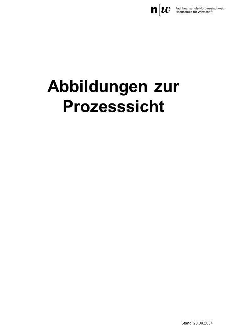 Stand: 20.08.2004 Abbildungen zur Prozesssicht