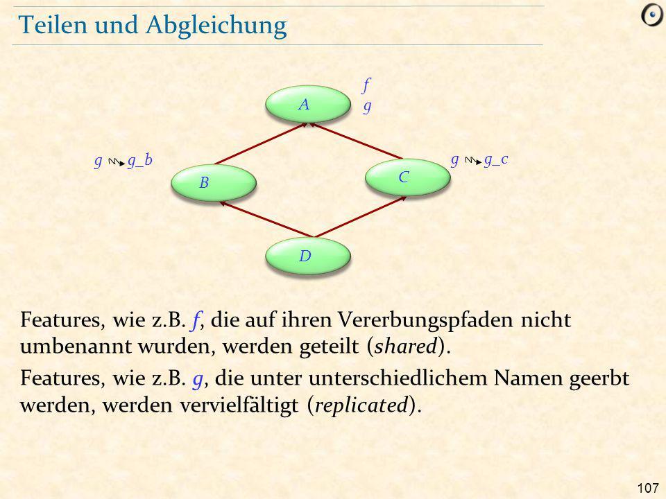 107 Teilen und Abgleichung Features, wie z.B.