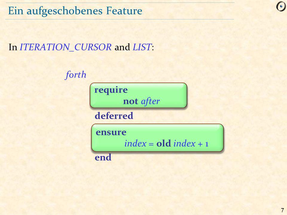 58 Verträge und Vererbung r require  ensure  r require  ensure  a1 : A a1.