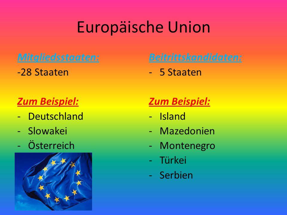 Beitrittsländer ( hier rot)