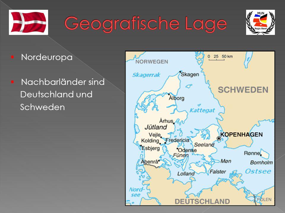  Nordeuropa  Nachbarländer sind Deutschland und Schweden
