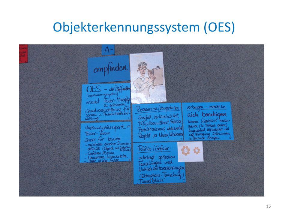 Objekterkennungssystem (OES) 16