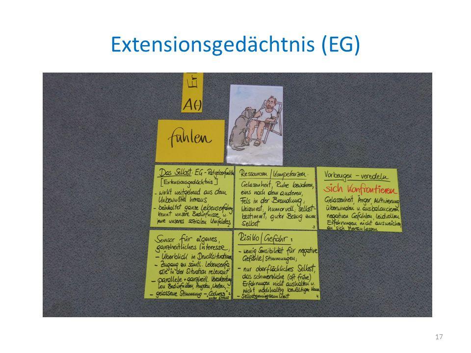 Extensionsgedächtnis (EG) 17