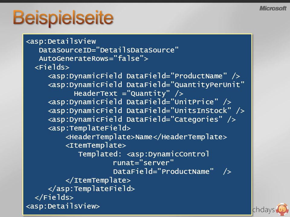<asp:DetailsView DataSourceID=