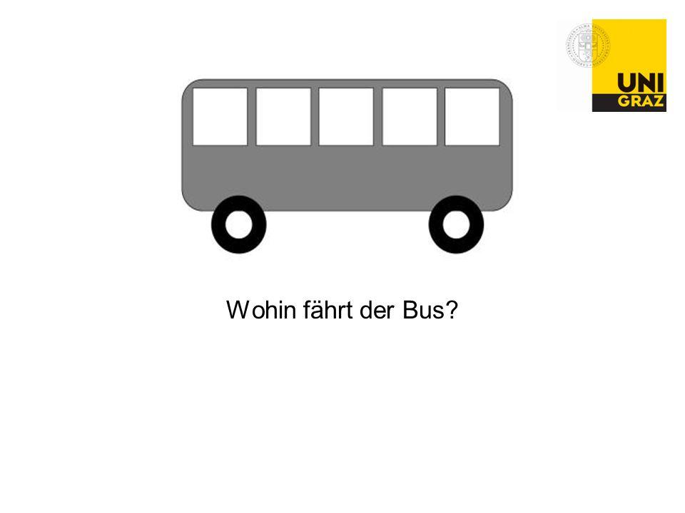 Wohin fährt der Bus?