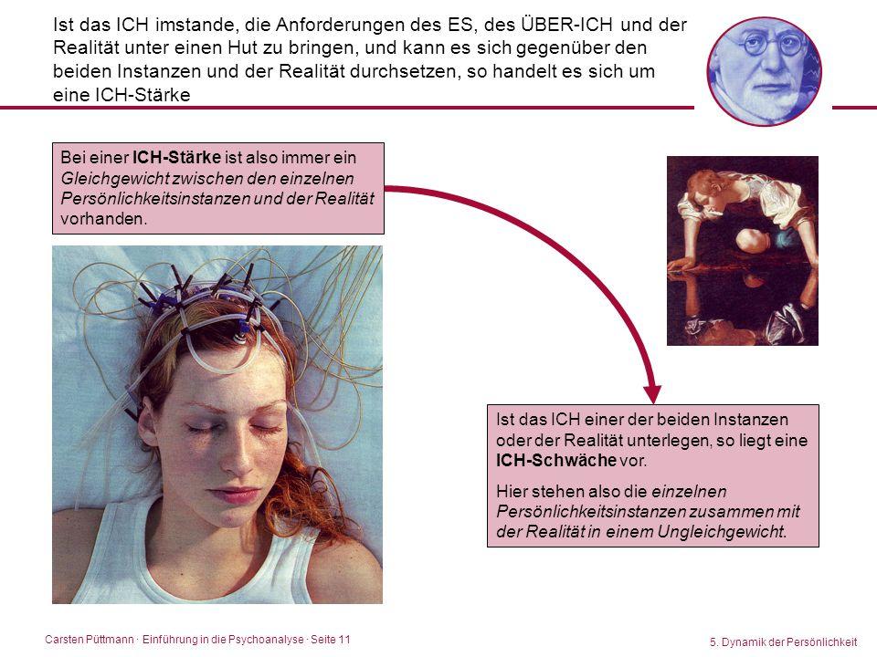 Carsten Püttmann ∙ Einführung in die Psychoanalyse · Seite 11 Ist das ICH imstande, die Anforderungen des ES, des ÜBER-ICH und der Realität unter eine