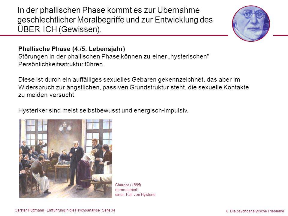 Carsten Püttmann ∙ Einführung in die Psychoanalyse · Seite 34 8. Die psychoanalytische Trieblehre In der phallischen Phase kommt es zur Übernahme gesc
