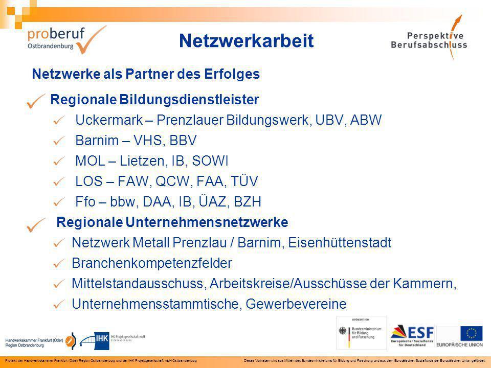 Projekt der Handwerkskammer Frankfurt (Oder) Region Ostbrandenburg und der IHK Projektgesellschaft mbH Ostbrandenburg Dieses Vorhaben wird aus Mitteln