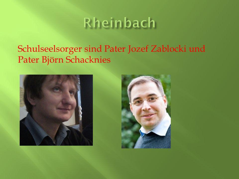Schulseelsorger sind Pater Jozef Zablocki und Pater Björn Schacknies