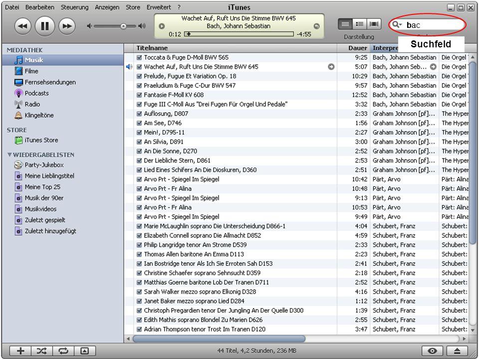 Musik auf dem PC 14 Suchfeld bbabac