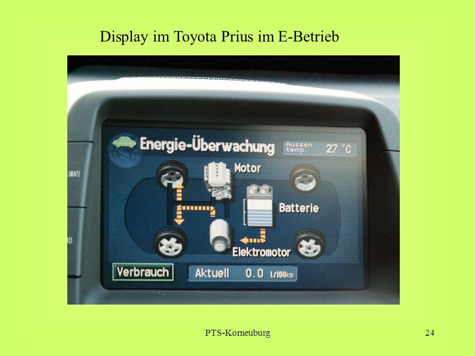 PTS-Korneuburg24 Display im Toyota Prius im E-Betrieb
