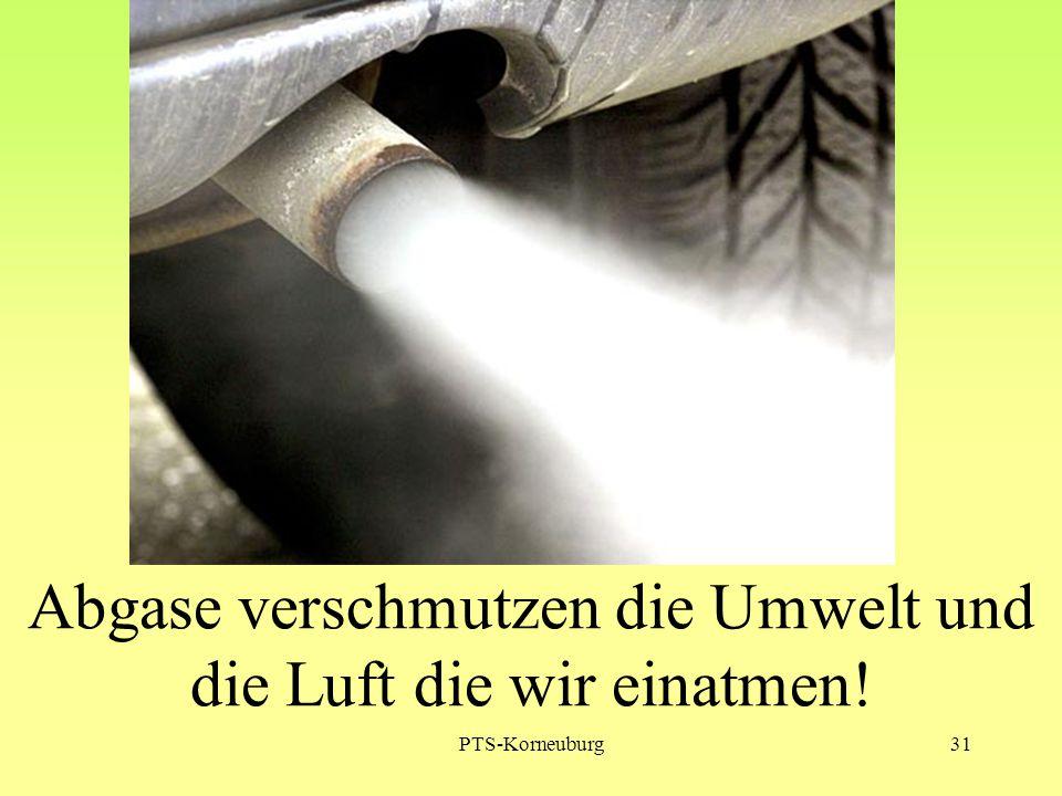 PTS-Korneuburg31 Abgase verschmutzen die Umwelt und die Luft die wir einatmen!