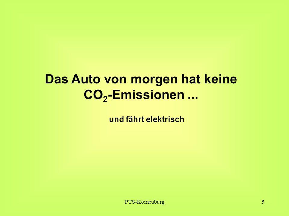 PTS-Korneuburg5 Das Auto von morgen hat keine CO 2 -Emissionen... und fährt elektrisch
