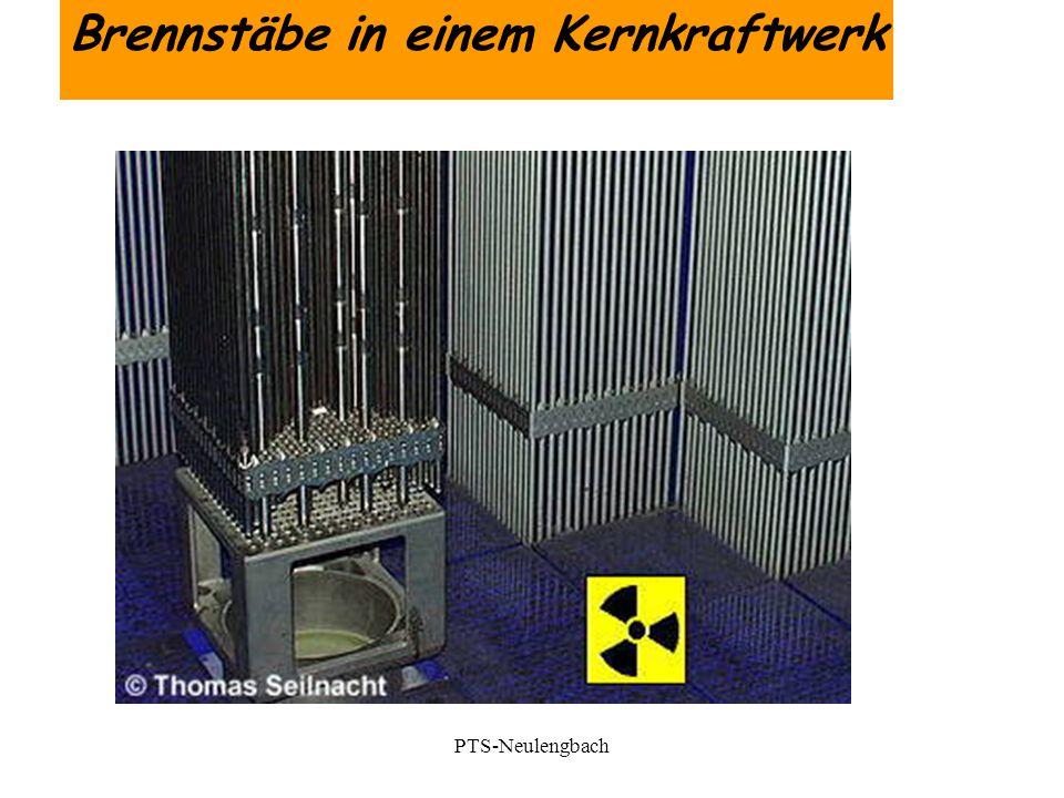 Brennstäbe in einem Kernkraftwerk PTS-Neulengbach