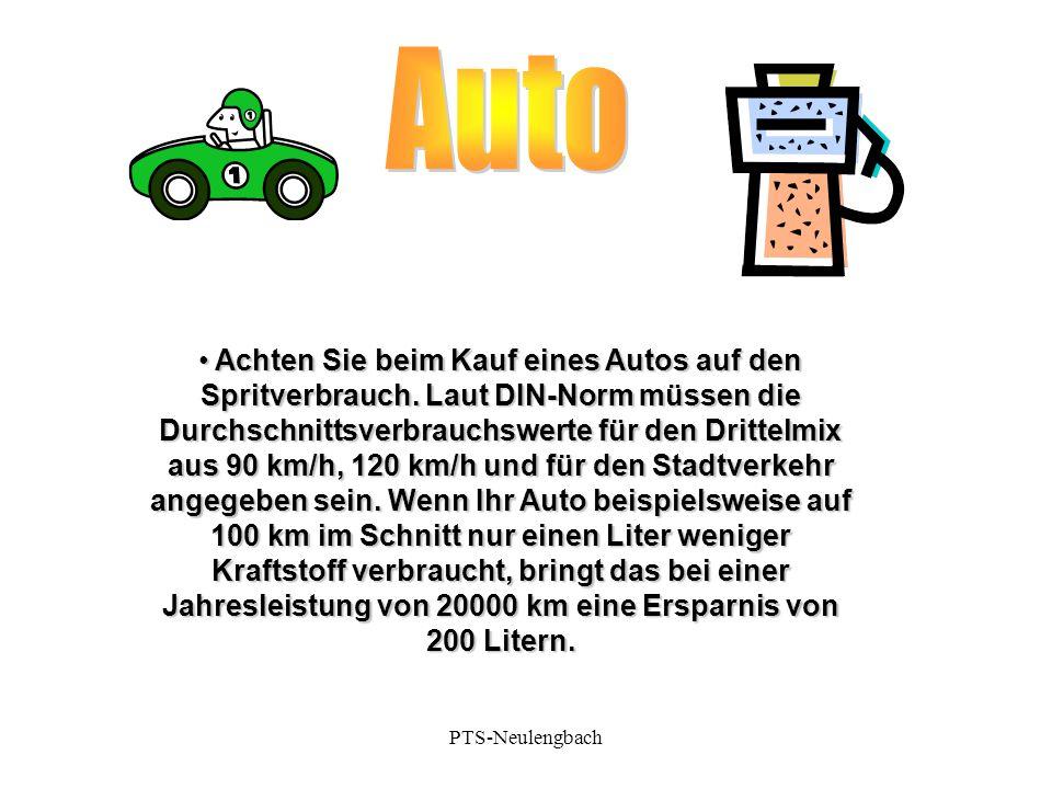 Achten Sie beim Kauf eines Autos auf den Spritverbrauch. Laut DIN-Norm müssen die Durchschnittsverbrauchswerte für den Drittelmix aus 90 km/h, 120 km/