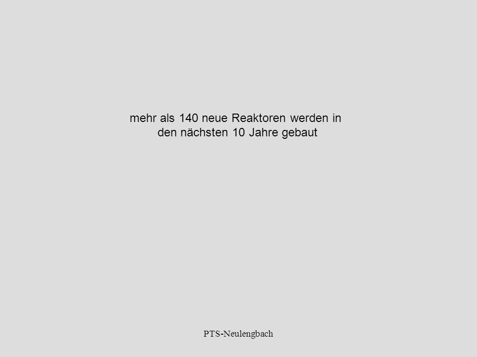 mehr als 140 neue Reaktoren werden in den nächsten 10 Jahre gebaut PTS-Neulengbach