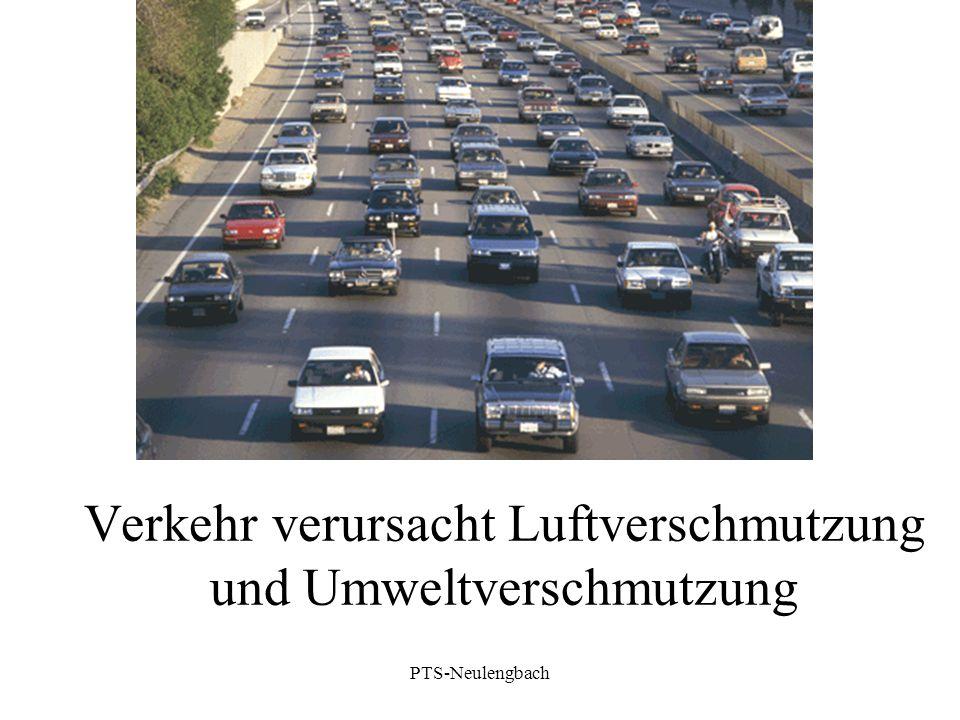 Verkehr verursacht Luftverschmutzung und Umweltverschmutzung PTS-Neulengbach