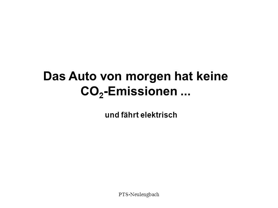 Das Auto von morgen hat keine CO 2 -Emissionen... und fährt elektrisch PTS-Neulengbach